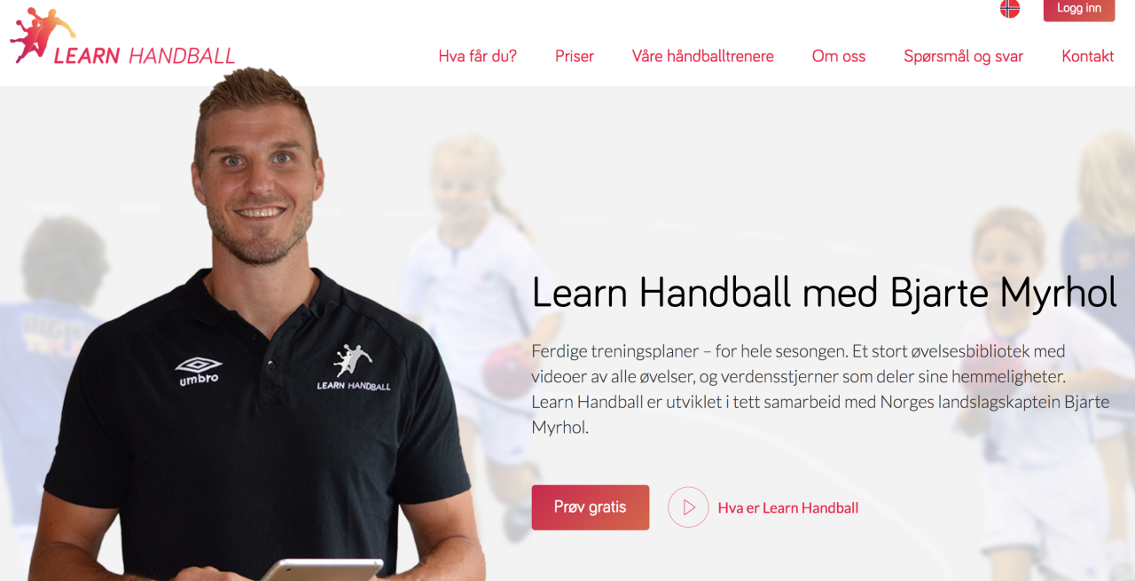 Bjarte Myrhol presenterer Learn Handball